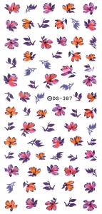 AUTUUM FLOWERS Nail Sticker
