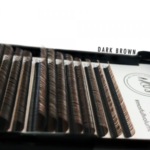 Rzęsy MO`S Mink DARK BROWN Lashes 0,07 D MIX
