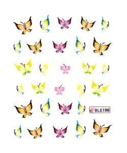 PAINTED BUTTERFLIES I Nail Sticker