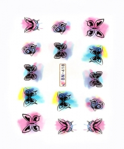 COLOR BUTTERFLIES I Nail Sticker