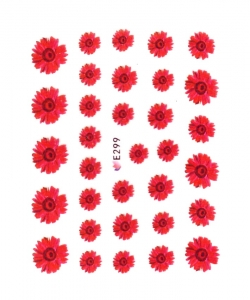 RED GARDEN FLOWER I Nail Sticker