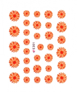 ORANGE GARDEN FLOWER I Nail Sticker