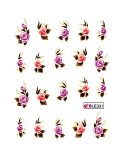 PINK & RED ROSES Nail Sticker