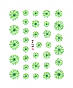 GREEN GARDEN FLOWER I Nail Sticker