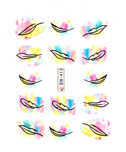 FEATHER II Nail Sticker